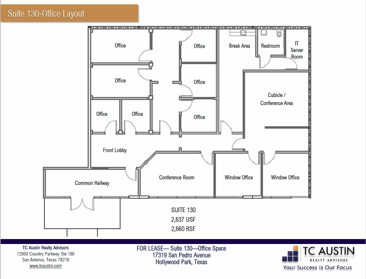 NPC - Suite 130 Layout